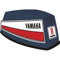 Adesivo Motor De Popa Yamaha 8 Hp 72/80