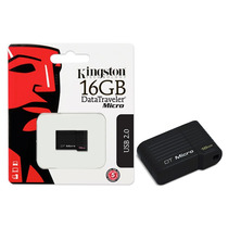 Pen Drive Usb 2.0 Kingston Datatraveler Micro 16gb Preto
