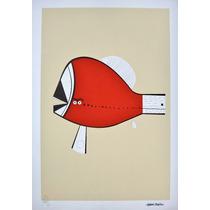 Aldemir Martins - Peixe Vermelho - Serigrafia Muito Especial