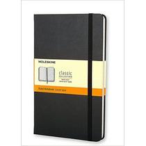 Caderno Moleskine Grande Pautado, Capa Dura Cor Preta, Novo