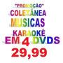 4 Dvd Musicas Karaokê Sertanejo Rock Nacional Inter R Carlos