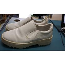 Sapato De Segurança Branco Solado Borracha C/ Ca