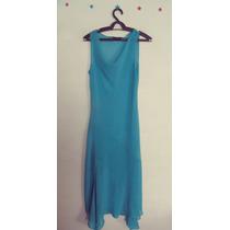 Vestido Azul Tecido Leve Gola Boba Cód. 36