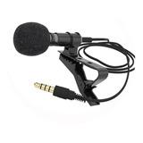 Microfone Lapela Celular Smartphone Profissional Stereo