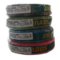 Fio Flexivel 750v 6,0mm Brasilcabos Cores Pr/br/az/vd/vm/am!