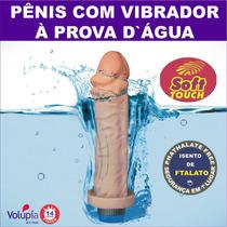 Prótese Pênis Pinto C/ Vibrador À Prova Dágua 16,0 X 4,0cm
