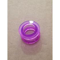 Piercing Alargador Acrílico Transparente Roxo 14mm
