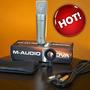 Microfone Nova M-audio Superior At2020 Samson C01 B2 Pro B1