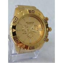 c413f7ab37e Busca Relógio Atlantis dourado com os melhores preços do Brasil ...