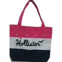 Bolsa Feminina Modelo Sacola Hollister C/ Alça Dupla Tecido