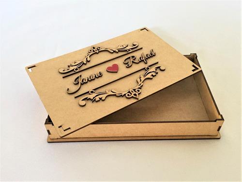34 Caixa Mdf Convite Casamento Padrinhos Provençal Arabesco R 266