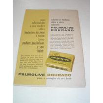 ( L - 290/ P ) Propaganda Antiga Sabonete Palmolive Dourado
