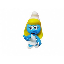 Brinquedo Boneco Smurfet Articulável Em Vinil 23cm Smurfs