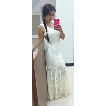 Vestido Longo De Renda Para Casamento Noivado Festas 4 Peças