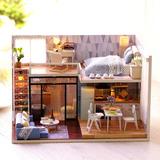 Diy Kit De Casa De Bonecas Em Miniatura Loft Lifelike Mini