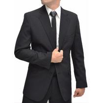 Terno Masculino Italiano Slim Pespontado + Brinde Capa