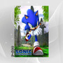 Poster 70x50cm Cartoon Tv Filmes Games Hedgehog - Sonic