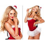 Victoria Secret Fantasia Papai Noel Santa Saia Chapeu Body
