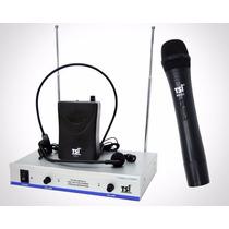 Microfone S/ Fio Tsi Ms425 Cli Vhf - Mão, Cabeça E Lapela