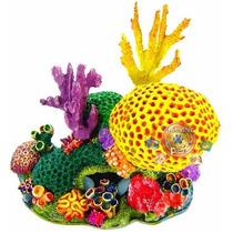 Enfeite Para Aquário De Resina Gigante Coral Nemo C09
