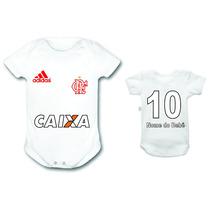 Bori Body Bebê Personalizado Flamengo Time Futebol Infantil