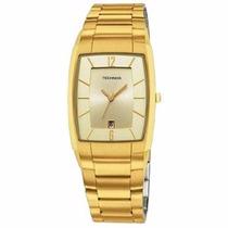 Relógio Technos Quadrado Dourado Slim C Calendário Gm10il/4x