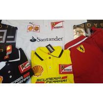 Camisa Polo Ferrari Masculina Bordada - Pronta Entrega