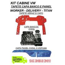 Kit Capa Banco E Painel Chinil + Tapete Verniz Caminhão Vw