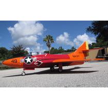 Jato Aeromodelo F-9 Cougar 1/5,8 Jetlegend Vermelho/laranja