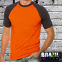 Camiseta Raglan Manga Curta - Malha Esportiva Dry Fit