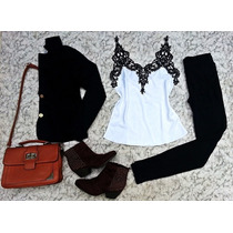 Conjunto Blazer Feminino Colorido + Calça Disco Pants+ Blusa