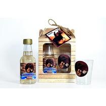 50 Kits Mini Vinho + Taça + Tag