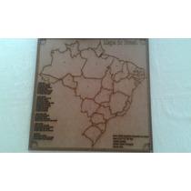Quebra-cabeça Mapa Do Brasil Em Mdf