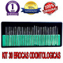 Kit 30 Brocas Odontologica Diamantada Ourives Podologia