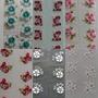 100 Cartelas De Adesivo Artesanal Total 1000 Adesivos