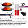 Kit Instalaçao Eletrica Carretinha Lanternas Fios 5 Metros