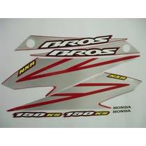 Kit Adesivos Honda Nxr 150 Bros Ks 2008 Vermelha
