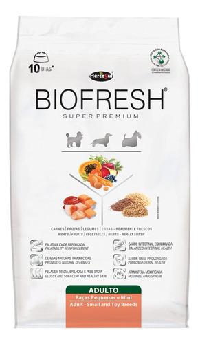Ração Biofresh Super Premium Cachorro Adulto Raça Mini/pequena Carne/frutas/vegetais 12kg