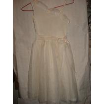 Vestido De Festa Infantil C/ Perolas De 1 Ombro So Tam 12