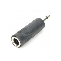 Conector Plug P10 Fêmea Para P2 Macho Áudio Jacket Adaptador