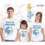 Lembrança De Aniversario Cinderela Princesa Camiseta Com 3