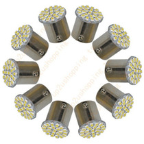 Kit 10 Lâmpadas 1156 22 Led Smd 1 Polo Branca Freio Re 12/24