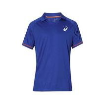 Camisa Polo Tênis Feminina Azul Asics G Promoção Imperdível
