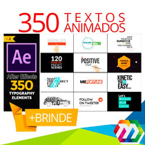 Projeto After Effects 350 Textos Animados Editáveis