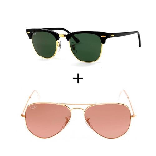 Kit Com 2 Oculos Ray-ban Feminino Masculino Envio Em 24h ff1cb75ffc