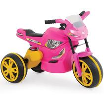 Mini Moto Elétrica Infantil X Turbo Rosa - Xalingo