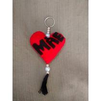 Chaveiro Coração Lembrancinha Do Dia Das Mães - 10 Unidades