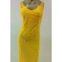 Vestido Festa/formatura/madrinha Amarelo Com Bordado