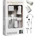 Kit Carregador Cabo Usb Fone Iphone3g/3gs/4g/4s Frete Gratis