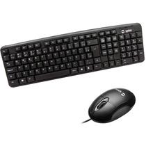 Teclado E Mouse Básico Com Fio Usb Qualidade Spinn Para Pc